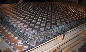 Лист алюминиевый рифленый 4х1500х3000мм (Квинтет) ТУ 1-801--20-2008